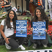 All women animals rights activists march to Liberation 4 Lolita and Hanna Testa and her mum is an British born Mauritius and an American citizen fighting for animal rights since she was 10 years old hosted by Until Lolita is Home and Activism For Life been captivity for over 49 years in central London.