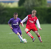 Burton Albion (red and white) v FC Spartak (purple) - Dundee Summer Football League Consolation Cup at Fairmuir<br /> <br />  - © David Young - www.davidyoungphoto.co.uk - email: davidyoungphoto@gmail.com