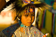 Young, powwow, Traditional Dancer, Crow Fair, Crow Indian Reservation, Montana
