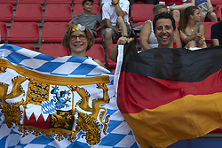 June 29, 2019 - Rennes, France - Supporters of Germany during the 2019 FIFA Women's World Cup France Quarter Final match between Germany and Sweden at Roazhon Park on June 29, 2019 in Rennes, France. (Credit Image: © Jose Breton/NurPhoto via ZUMA Press)