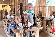 Maasai children in their village school in Amboseli, Kenya.