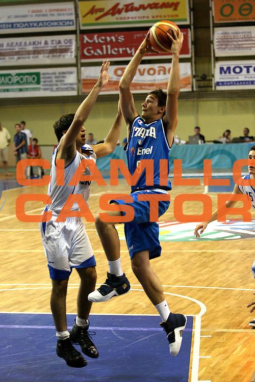 DESCRIZIONE : Rethimnon Crete Termosteps U16 European Championship Men Qualifying Round Israel Italy<br /> GIOCATORE : Moraschini<br /> SQUADRA : Italy Italia Nazionale Italiana Uomini Under 16<br /> EVENTO : Rethimnon Crete Termosteps U16 European Championship Men Creta Europeo U16 Uomini <br /> GARA :  Israel Italy Israele Italia<br /> DATA : 26/07/2007 <br /> CATEGORIA : Tiro<br /> SPORT : Pallacanestro <br /> AUTORE : Agenzia Ciamillo-Castoria/M.Marchi <br /> Galleria : Europeo Under 16 <br /> Fotonotizia : Rethimnon Crete Termosteps U16 European Championship Men Qualifying Round Iseael Italy<br /> Predefinita :
