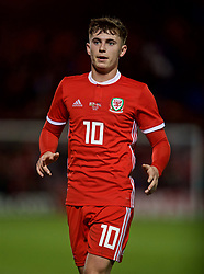 WREXHAM, WALES - Wednesday, March 20, 2019: Wales' Ben Woodburn during an international friendly match between Wales and Trinidad and Tobago at the Racecourse Ground. (Pic by David Rawcliffe/Propaganda)