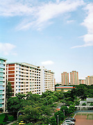 HDB (Housing Development Board) apartments at Ang Mo Kio. Approximately 85% of Singaporeans live in HDB flats.