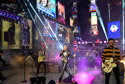 Neon Trees performs during New Years Eve celebrations in Times Square in New York, the United States,  December 31, 2012. Photo by Imago / i-Images...UK ONLY
