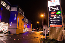 Petrol station, Tesco Extra, Rotherham, Yorkshire UK