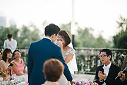 Kenneth and Lina weds at Faber peak Singapore