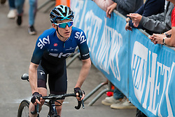 Rider of Team Sky (GBR,WT,Pinarello) during the 2019 La Flèche Wallonne (1.UWT) with 195 km racing from Ans to Mur de Huy, Belgium. 24th April 2019. Picture: Pim Nijland | Peloton Photos<br /> <br /> All photos usage must carry mandatory copyright credit (Peloton Photos | Pim Nijland)