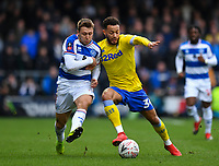 Football - 2018 / 2019 FA Cup - Third Round: Queens Park Rangers vs. Leeds United<br /> <br /> Leeds United's Lewis Baker holds off the challenge from Queens Park Rangers' Luke Freeman, at Loftus Road.<br /> <br /> COLORSPORT/ASHLEY WESTERN