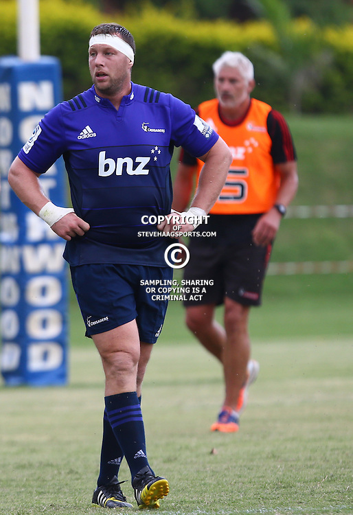 DURBAN, SOUTH AFRICA, 24,MARCH, 2016 - Wyatt Crockett of the BNZ Crusaders during The Crusaders training session  at Northwood School Durban North in Durban and the Crusaders Media conference, South Africa. (Photo by Steve Haag)<br /> <br /> images for social media must have consent from Steve Haag