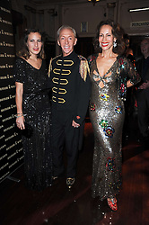 Left to right, CHARLOTTE DELLAL, SIMON WILSON and ANDREA DELLAL at a party and fashion show to celebrate the 40th anniversary of Butler & Wilson held at Koko, 1 Camden High Street, London NW1 on 12th November 2009.