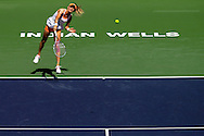Indian Wells, CA - Agnieszka Radwanska of Poland in action during the final match against Flavia Pennetta of Italy during the BNP Paribas Open.
