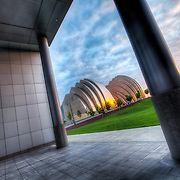 View of the Kauffman Center site from near the entry to the Convention Center Ballroom, Kansas City, Missouri.