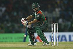 March 10, 2018 - Colombo, Sri Lanka - Bangladesh cricketer Tamim Iqbal plays a shot during the 3rd T20 cricket match of NIDAHAS Trophy between Sri Lanka  and Bangladesh at R Premadasa cricket ground, Colombo, Sri Lanka on Saturday 10 March 2018. (Credit Image: © Tharaka Basnayaka/NurPhoto via ZUMA Press)