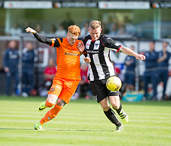 half time : Dunfermline 0 v 1  United, Scottish Championship game played 10/9/2016 at East End Park.