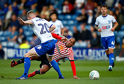 Wahbi Khazri of Sunderland takes on Alex Whitmore of Bury - Mandatory by-line: Matt McNulty/JMP - 10/08/2017 - FOOTBALL - Gigg Lane - Bury, England - Bury v Sunderland - Carabao Cup - First Round