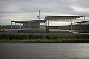 .El Burrito Chisostomo sits under partially completed construction in Juarez Mexico on Saturday, Oct. 10, 2009....
