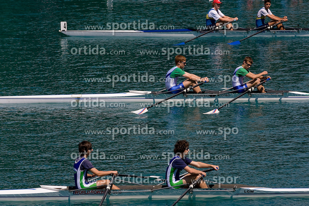Young rowers at 54th International rowing Regatta, on June 13, 2009, at Bled lake, Slovenia. (Photo by Vid Ponikvar / Sportida)