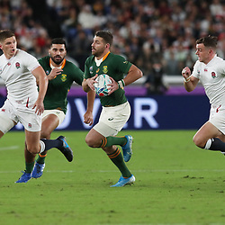 Willie Le Roux of South Africa during the Rugby World Cup Final match between South Africa Springboks and England Rugby World Cup Final at the International Stadium Yokohama  Japan.Saturday 02 November 2019. (Mandatory Byline - Fotosport/David Gibson)