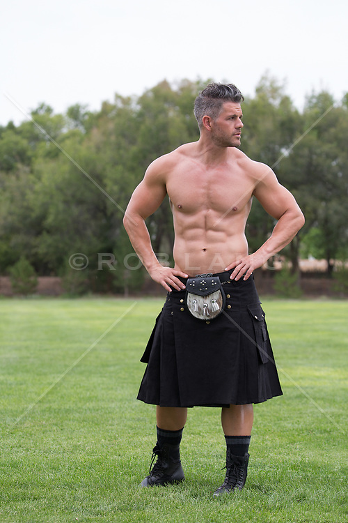 hot man in a kilt | ROB LANG IMAGES: LICENSING AND COMMISSIONS