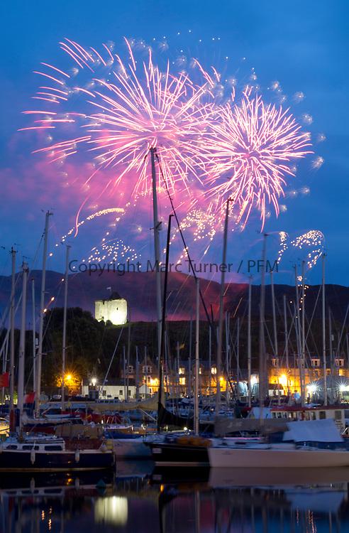 Silvers Marine Scottish Series 2017<br /> Tarbert Loch Fyne - Sailing<br /> <br /> Tarbert Harbour Fireworks<br /> <br /> Credit: Marc Turner / CCC