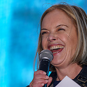 Speaker Mariella Frostrup attends The Salesman, Trafalgar Square,London,UK. by See Li