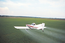Plane Spraying Rice Field Agriculture