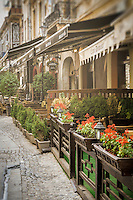 BUCHAREST, ROMANIA - September 30, 2012: Strada Selari in the Lipscani District, Old Town Bucharest.