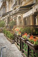 BUCHAREST, ROMANIA - September 30, 2012: Strada Selari in the Lipscani District, Old Town Bucharest.
