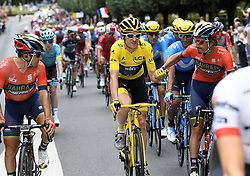 July 29, 2018 - Paris Champs-Elysees, France - PARIS CHAMPS-ELYSEES, FRANCE - JULY 29 : THOMAS Geraint (GBR) of Team SKY  during stage 21 of the 105th edition of the 2018 Tour de France cycling race, a stage of 116 kms between Houilles and Paris Champs-Elysees on July 29, 2018 in Paris Champs-Elysees, France, 29/07/18  (Credit Image: © Panoramic via ZUMA Press)