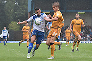 Bury Midfielder, Zeli Ismail (7) and Port Vale Defender, Nathan Smith (24) during the EFL Sky Bet League 1 match between Bury and Port Vale at the JD Stadium, Bury, England on 3 September 2016. Photo by Mark Pollitt.