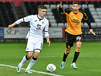 Football - 2019 / 2020 EFL Carabao (League) Cup - Second Round: Swansea City vs. Cambridge United<br /> <br /> Declan John of Swansea City on the ball, at Liberty Stadium.<br /> <br /> COLORSPORT/WINSTON BYNORTH