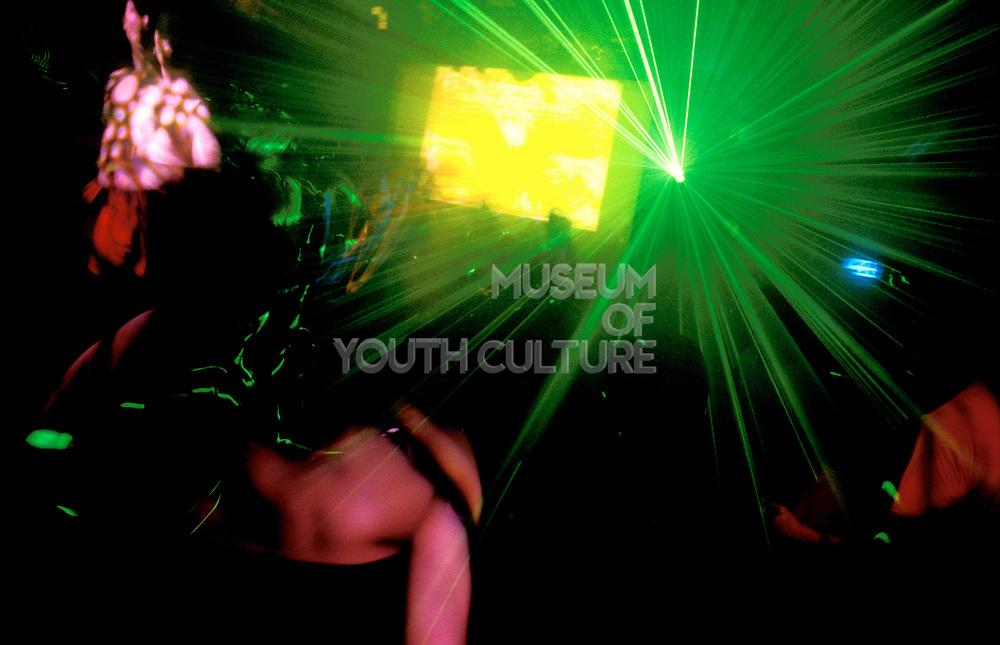 Clubbers on the dancefloor.
