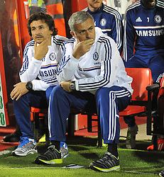 Chelsea Manager, Jose Mourinho - Photo mandatory by-line: Alex James/JMP - Tel: Mobile: 07966 386802 24/09/2013 - SPORT - FOOTBALL - County Ground - Swindon - Swindon Town V Chelsea - Capital One Cup