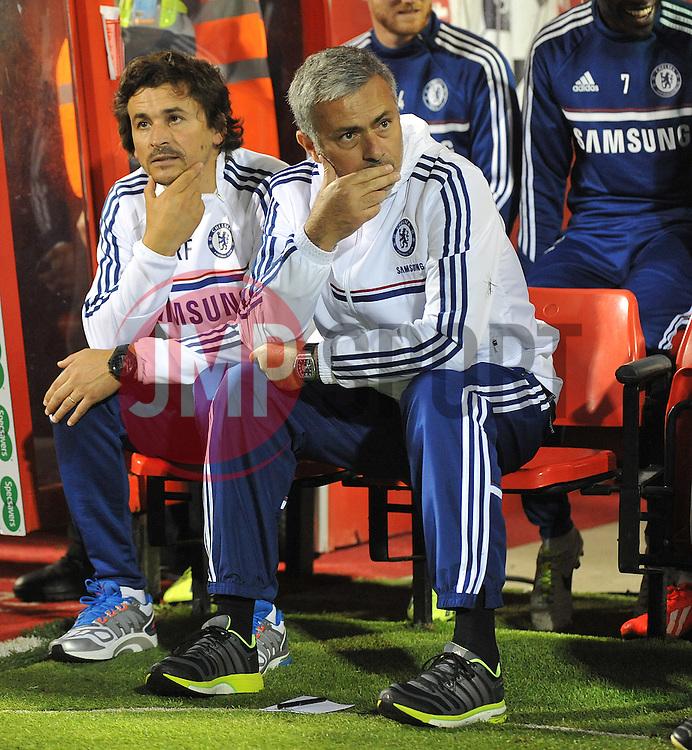 Chelsea Manager, Jose Mourinho - Photo mandatory by-line: Alex James/JMP - Tel: Mobile: 07966 386802 24/09/2013 - SPORT - FOOTBALL - County Ground - Swindon - Swindon Town V Chelsea - Capital One Cup