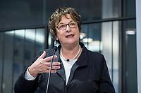 29 MAR 2017, BERLIN/GERMANY:<br /> Brigitte Zypries, SPD, Bundeswirtschaftsministerin, haelt eine Rede, Veranstaltung des Wirtschaftsforums der SPD und der Business 20, B20: &quot;Global Governance in Zeiten der Globalisierungsskepsis - Impulse aus der G20-Wirtschaft&quot;, Quartier Zukunft der Deutschen Bank<br /> IMAGE: 20170329-02-100