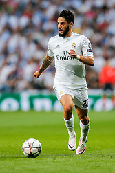 Isco of Real Madrid in action - Mandatory byline: Rogan Thomson/JMP - 04/05/2016 - FOOTBALL - Santiago Bernabeu Stadium - Madrid, Spain - Real Madrid v Manchester City - UEFA Champions League Semi Finals: Second Leg.