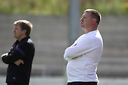 Picture by David Horn/Focus Images Ltd. 07545 970036.04/08/12.Chesham United Manager Andy Leese  during a friendly match at The Meadow, Chesham.
