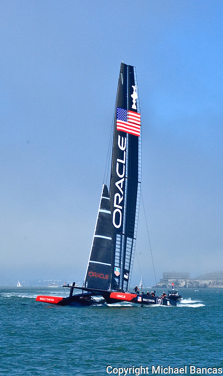 Oracle racing on San Francisco Bay in the America's Cup Finals