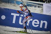 &Ouml;STERSUND, SVERIGE - 2017-12-03: Dunja Zdouc under damernas jaktstart t&auml;vling under IBU World Cup Skidskytte p&aring; &Ouml;stersunds Skidstadion den 1 december 2017 i &Ouml;stersund, Sverige.<br /> Foto: Johan Axelsson/Ombrello<br /> ***BETALBILD***