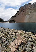 Lake Agnes and Talus and Talus cones at Noku Crags, Never Summer Mountains, Colorado