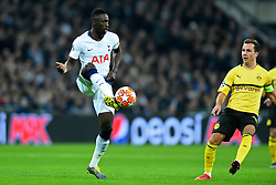 February 13, 2019 - London, England, United Kingdom - Tottenham defender Davinson Sanchez plays out of defence during the UEFA Champions League match between Tottenham Hotspur and Ballspielverein Borussia 09 e.V. Dortmund at Wembley Stadium, London on Wednesday 13th February 2019. (Credit: Jon Bromley | MI News & Sport Ltd) (Credit Image: © Mi News/NurPhoto via ZUMA Press)