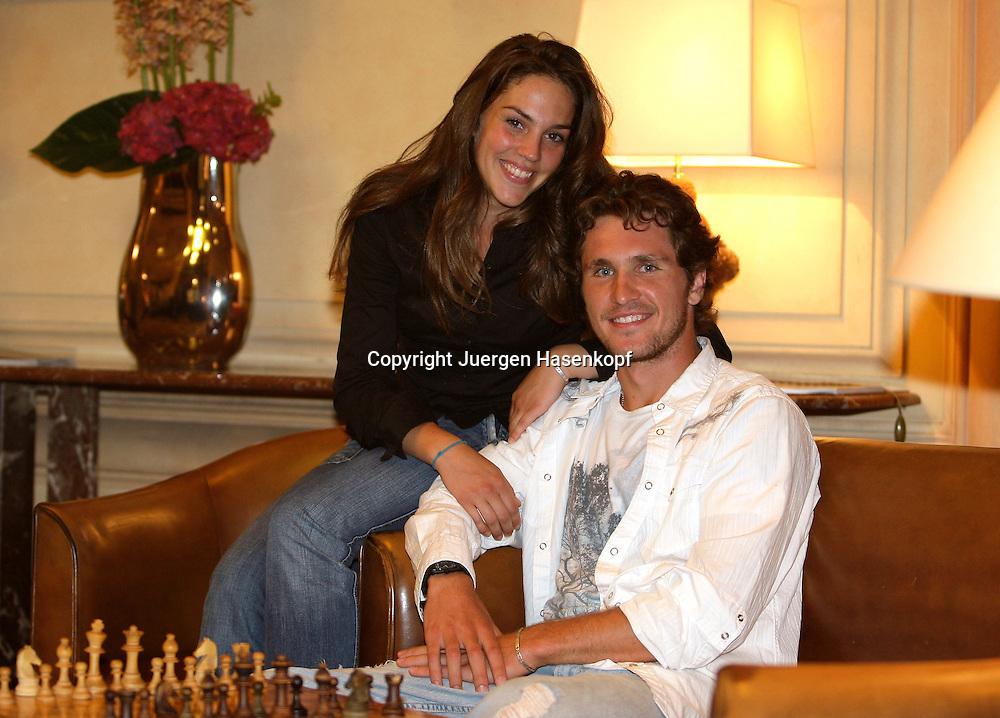Tennis Profi Mischa Zverev (GER) und Freundin Charlene,privat,