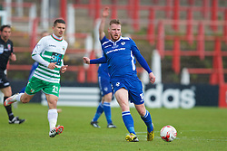 WREXHAM, WALES - Monday, May 2, 2016: Airbus UK Broughton's James Owen in action against The New Saints during the 129th Welsh Cup Final at the Racecourse Ground. (Pic by David Rawcliffe/Propaganda)