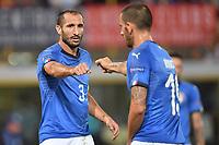 Giorgio Chiellini and Leonardo Bonucci.<br /> Bologna 07-09-2018 <br /> Football Calcio Uefa Nations League <br /> Italia - Polonia / Italy - Poland <br /> Foto Andrea Staccioli / Insidefoto