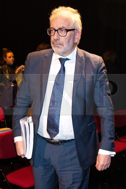 © Licensed to London News Pictures. 27/03/2018. Salford, UK. SIR BOB KIRSLAKE . The Kerslake Report in to the terrorist bombing of an Ariana Grande concert at the Manchester Arena on 22nd May 2017 , ordered by Greater Manchester Metro Mayor Andy Burnham , is published at a press conference at the University of Salford , at Media City . Amongst praise for many connected with the events, the report also highlights failings in communication at Greater Manchester Fire and Rescue on the night and disreputable behaviour by some sections of the media in the aftermath of the attack . Photo credit: Joel Goodman/LNP