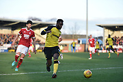 Burton Albion striker Darren Bent (9) makes a run during the EFL Sky Bet Championship match between Burton Albion and Nottingham Forest at the Pirelli Stadium, Burton upon Trent, England on 17 February 2018. Picture by Richard Holmes.