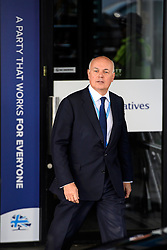 © Licensed to London News Pictures. Birmingham, UK. IAIN DUNCAN SMITH attends the 2016 Conservative Party Conference. Photo credit: Ben Cawthra/LNP