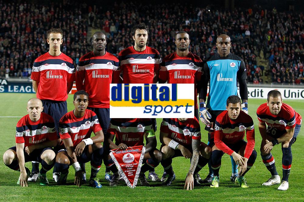 FOOTBALL - UEFA CHAMPIONS LEAGUE 2011/2012 - GROUP STAGE - GROUP B - LILLE OSC v INTER MILAN - 18/10/2011 - PHOTO CHRISTOPHE ELISE / DPPI - TEAMSHOT LOSC