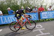 Direct Energie's Fabien Grellier #222 (Fra) on the Côte de la Redoute climb during the 2018 Liège-Bastogne-Liège elite men's race on Sunday 22 April 2018.